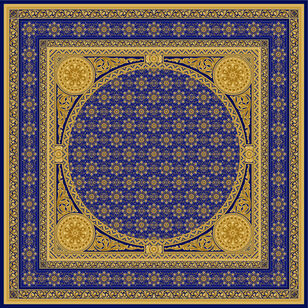 C-051 Gold Arabian Blue