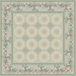 C-025/2 Floral Boudoir Green