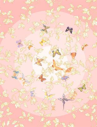 C-161/3 Butterfly Paradise Pink (Butterflies)