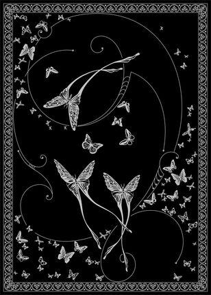 C-196 Silver Butterflies