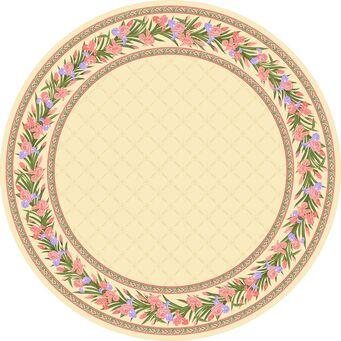Светлый круглый ковер C-047 Iris Blossom Round (Paradise)