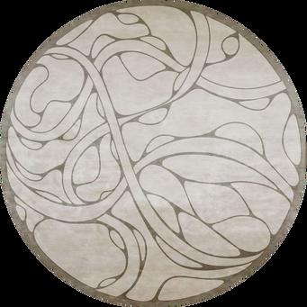 Однотонный круглый ковер PD - 99 - 1, коллекция Association