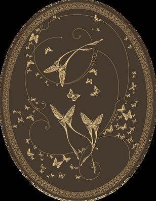 CО-196/4 Silver Butterflies (Butterflies)