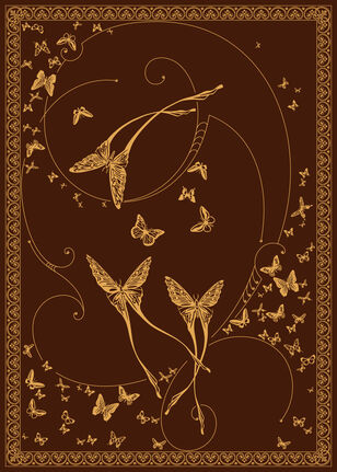 C-196 Chocolate/Gold (Butterflies)